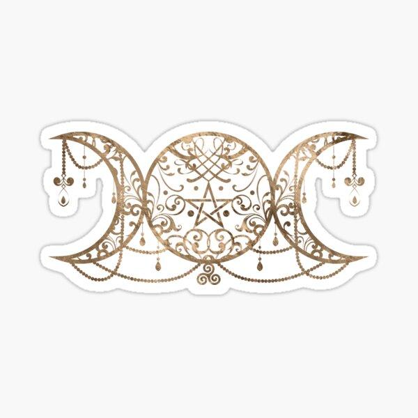 Dreifacher Mond - dreifache Göttin-Verzierung Sticker