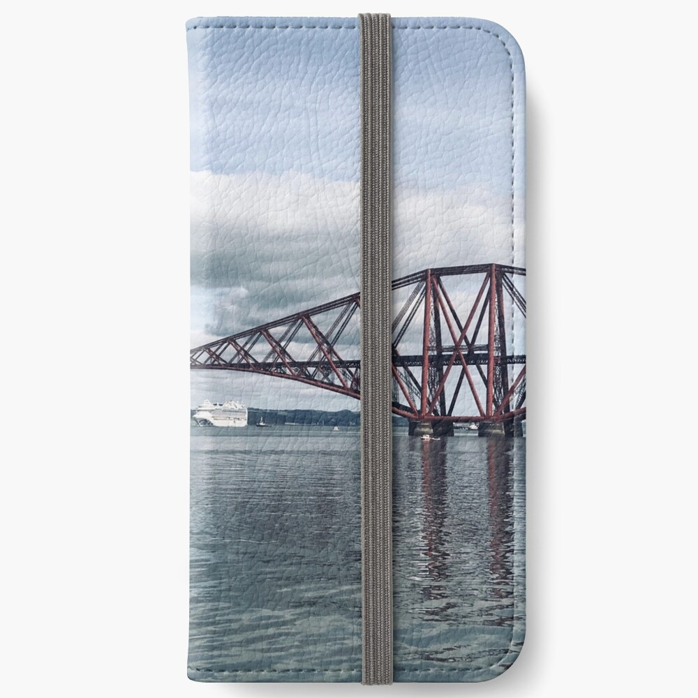 Forth Bridge with cruise ship iPhone Wallet