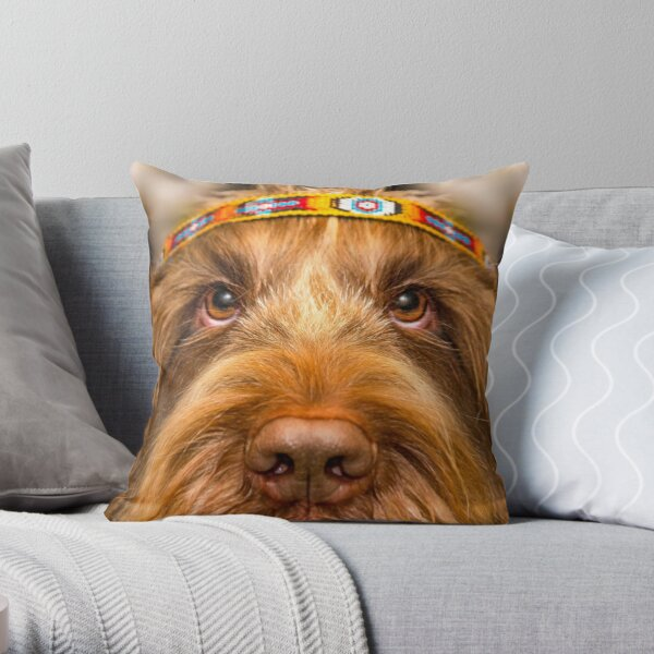 Spinone Chief Throw Pillow