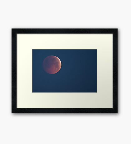 Lunar Eclipse - Winter Solstice, 21st December 2010 Framed Print