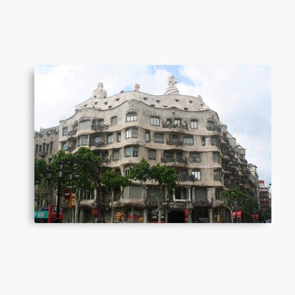 Barcelona - Gaudi's house - Casa Mila Canvas Print