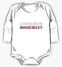 Body de manga larga para bebé I Make Boys RAGEQUIT