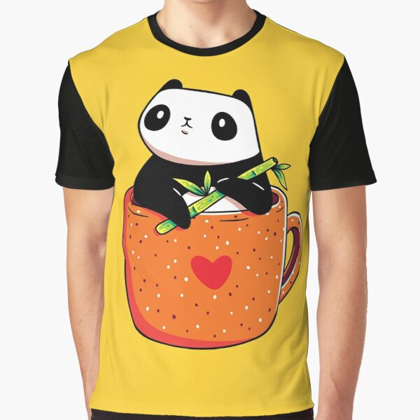 Panda in a Mug Graphic T-Shirt
