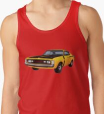 Chrysler Valiant VH Charger - Yellow Tank Top