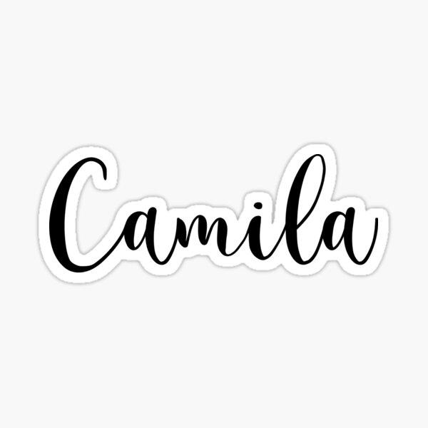 Nombre Camila Pegatina