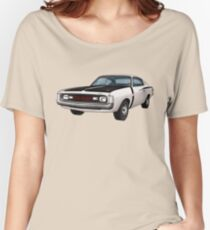 Chrysler Valiant VH Charger - White Women's Relaxed Fit T-Shirt