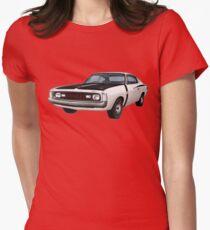 Chrysler Valiant VH Charger - White Women's Fitted T-Shirt