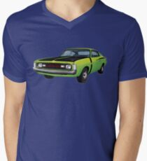 Chrysler Valiant VH Charger - Green Go Men's V-Neck T-Shirt