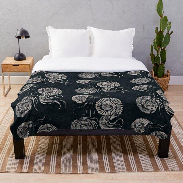 Ammonites Throw Blanket