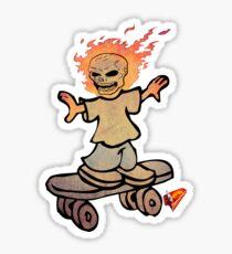 skater boy manga style by ian rogers Sticker