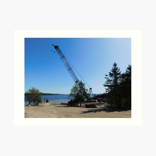The crane at Smith's Cove Art Print