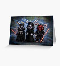 Sith Bunnies- Star Wars Parody Greeting Card