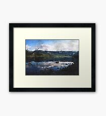 Reflected Reservoir Clouds on a March Day Framed Print