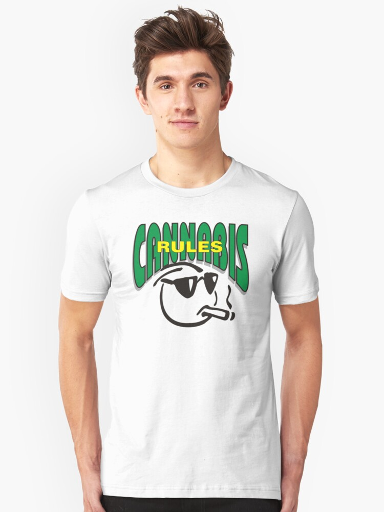 Cannabis Rules Unisex T-Shirt Front