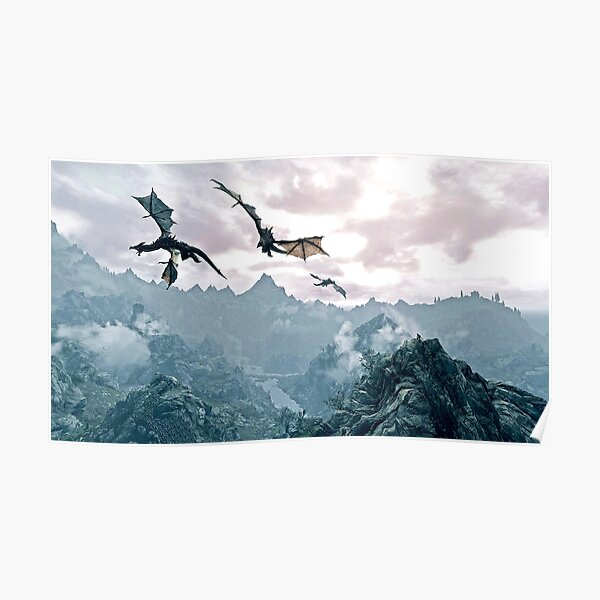 Flying dragon Poster