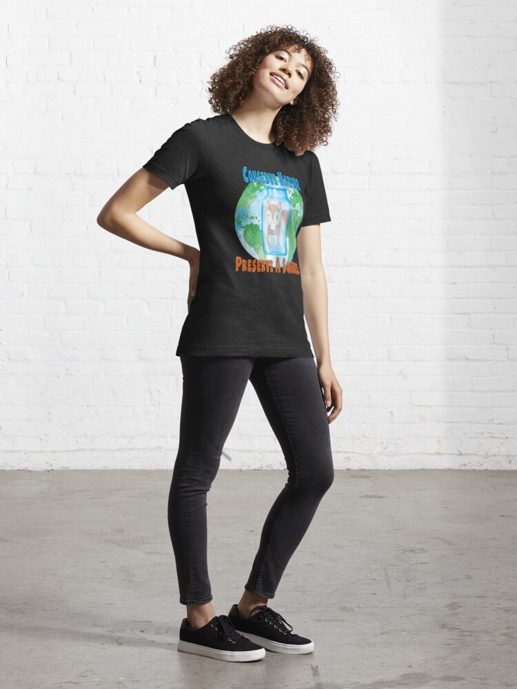 Alternate view of Conserve Nature - Preserve a Squirrel! Essential T-Shirt