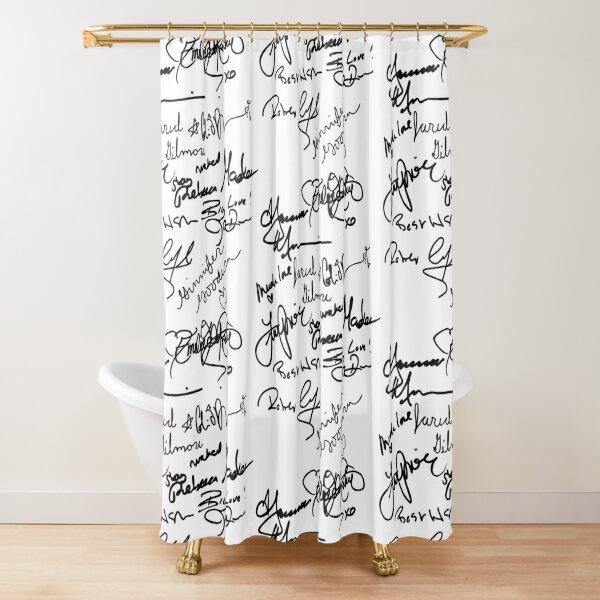 OUAT autograph (black text) Shower Curtain