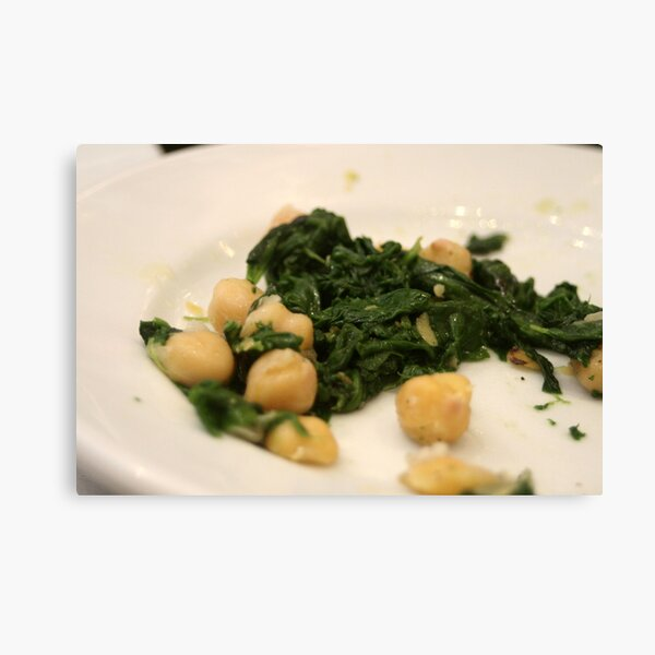 Barcelona - Spinach and chickpeas Canvas Print