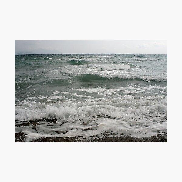 Kos - Waves Magic beach Photographic Print