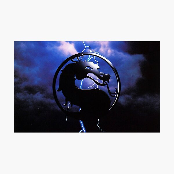 Mortal Kombat Black Dragon Photographic Print