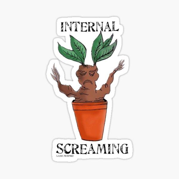 Cute Creatures - Screaming pot plant, Wizarding world  Sticker