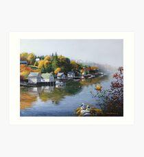 Hackett's Cove Nova Scotia Art Print