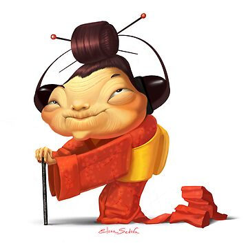 Japanese grandmother by sedov