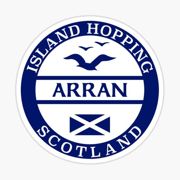 Island Hopping Arran, Scottish Islands Sticker Sticker