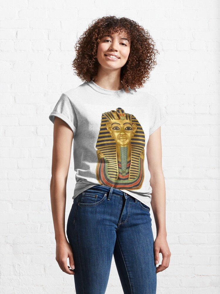 Alternate view of #ANCIENT #EGYPTIAN #ARTIFACTS: Funerary Mask of King Tutankhamun Plaque (Life size) : Egyptian Museum, Cairo, 1347-1237 B.C. Classic T-Shirt