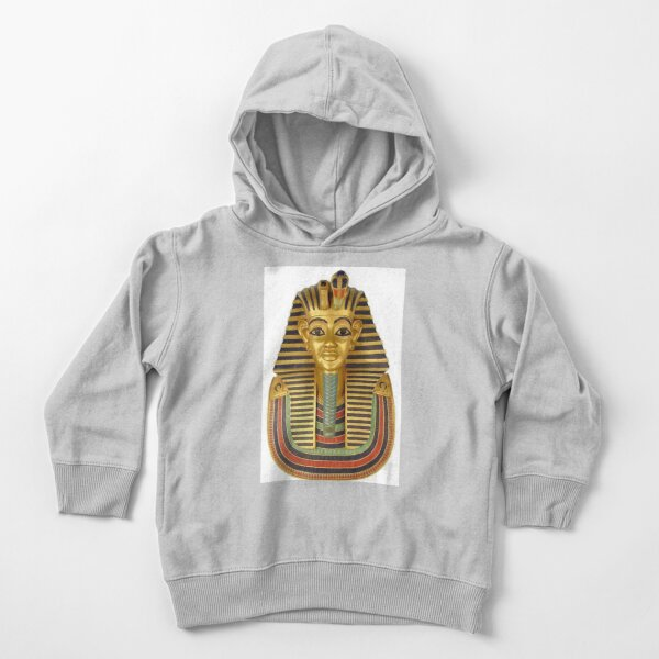 #ANCIENT #EGYPTIAN #ARTIFACTS: Funerary Mask of King Tutankhamun Plaque (Life size) : Egyptian Museum, Cairo, 1347-1237 B.C. Toddler Pullover Hoodie