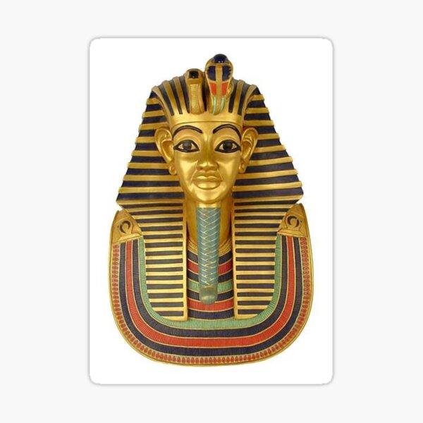 #ANCIENT #EGYPTIAN #ARTIFACTS: Funerary Mask of King Tutankhamun Plaque (Life size) : Egyptian Museum, Cairo, 1347-1237 B.C. Sticker