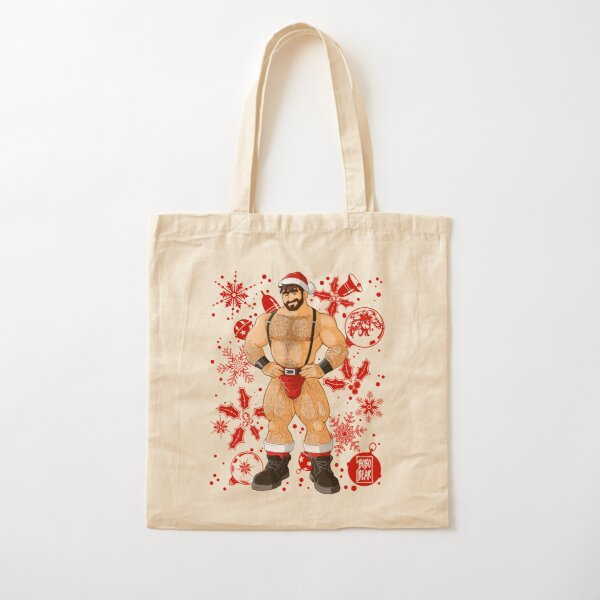 ADAM LIKES SANTA - RED XMAS Cotton Tote Bag