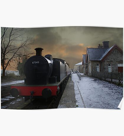 The Steam Train Is In The Station Poster