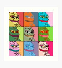 Rare Pop Art Marilyn Monroe Pepe the Frog Art Print