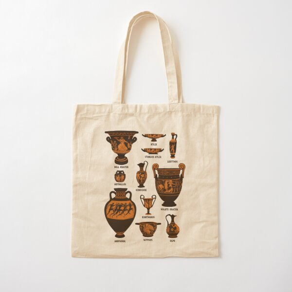 Ancient Greek Pottery Cotton Tote Bag
