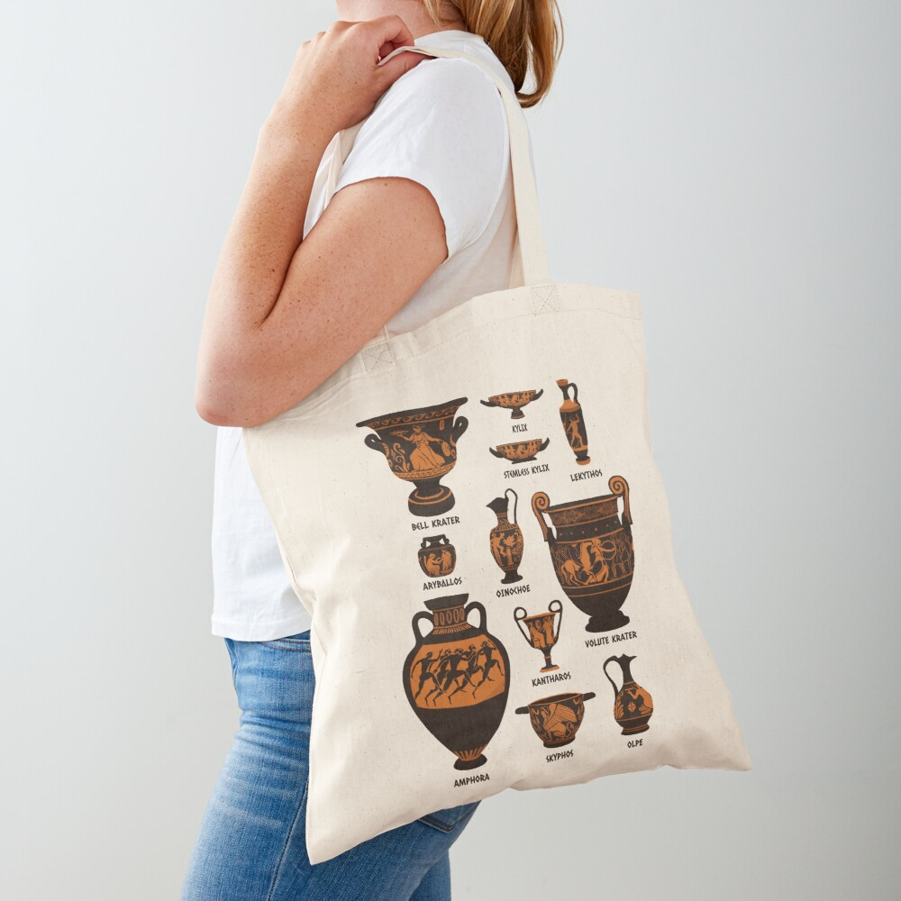 Ancient Greek Pottery Tote Bag