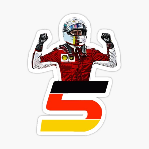 Sebastian Vettel Number 5 Sticker