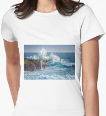 Exploding Surf Women's Fitted T-Shirt