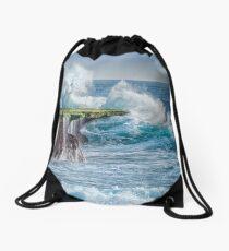 Exploding Surf Drawstring Bag