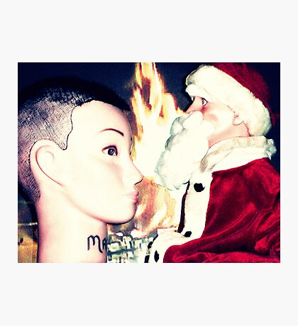 Santa Hugo Explains To Mandy That The Tribute Of Skulls Given By Her Followers Is Not In Keeping With The Spirit Of Christmas Photographic Print