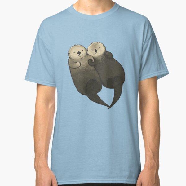 Loutres importantes - Loutres se tenant la main T-shirt classique