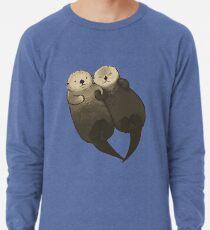 Bedeutende Otter - Otter, die Hände halten Leichtes Sweatshirt