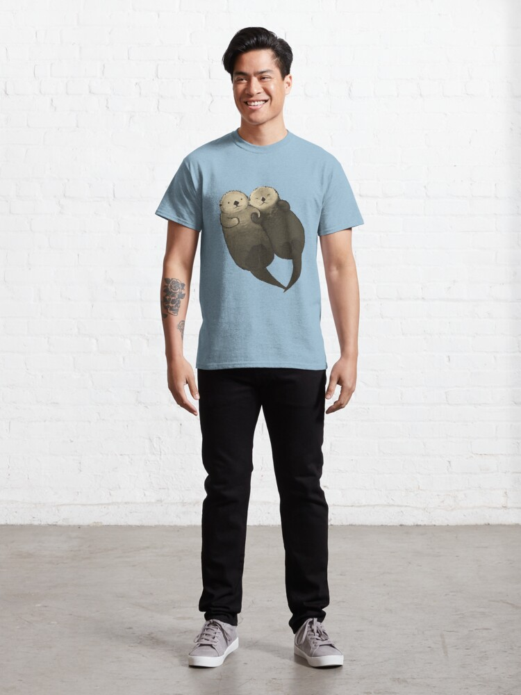 Alternate view of Significant Otters - Otters Holding Hands Classic T-Shirt