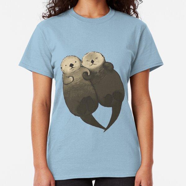 Nutrias significativas - Nutrias tomados de la mano Camiseta clásica
