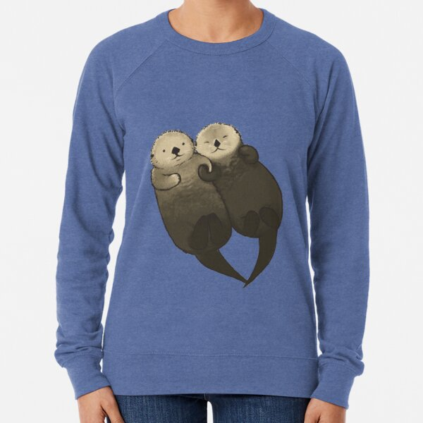 Significant Otters - Otters Holding Hands Lightweight Sweatshirt
