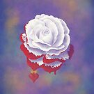 Painted Rose - Square Image by Audra Lemke