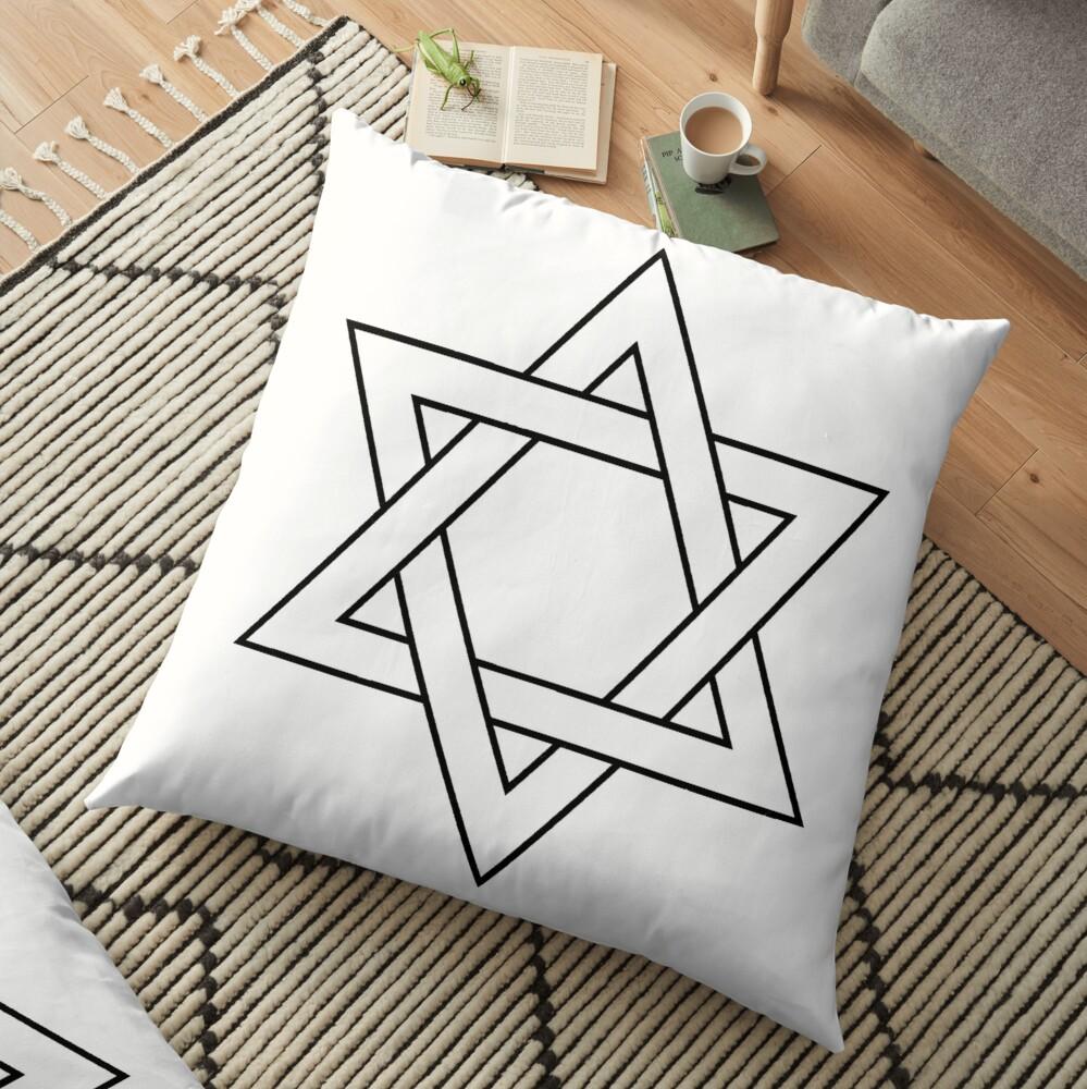 #Star of #David #Clipart #StarOfDavid Floor Pillow