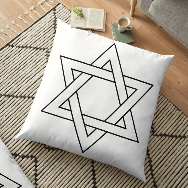 Jewish,  #Star of #David #Clipart #StarOfDavid Floor Pillow