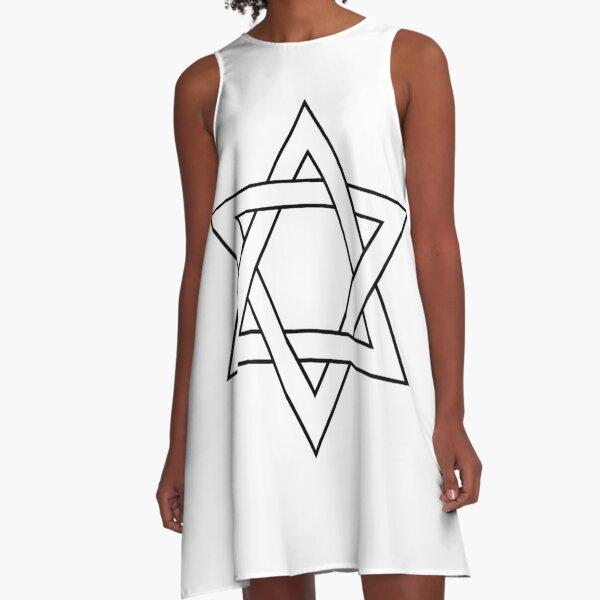 #Star of #David #Clipart #StarOfDavid A-Line Dress