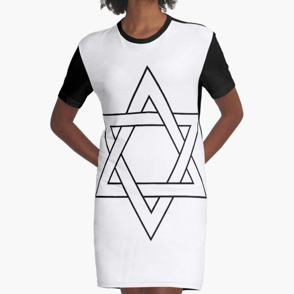 #Star of #David #Clipart #StarOfDavid Graphic T-Shirt Dress